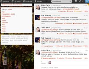 Twitter-Diskussion zu Datenembargo